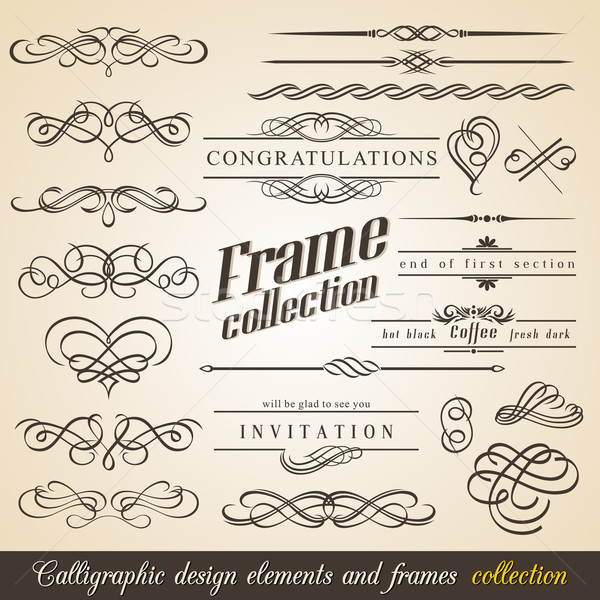 Foto stock: Calligraphic Design Elements and Frames