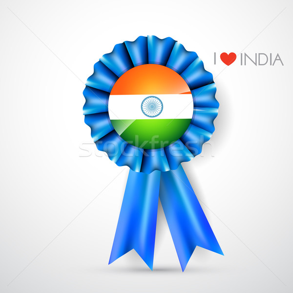 Foto stock: indian flag label